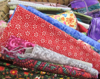 Fabric Destash - over 4.5 pounds of Fabric Remnants