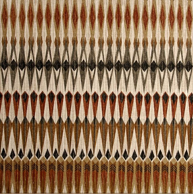 Black Brown Tribal Print Fabric Brown And Gray Upholstery