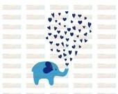 Elephant Hearts - Digital Download - SVG Cut File - EPS Cut Files - Cameo Cut File - Cricut Cut File - Valentine's Day SVG