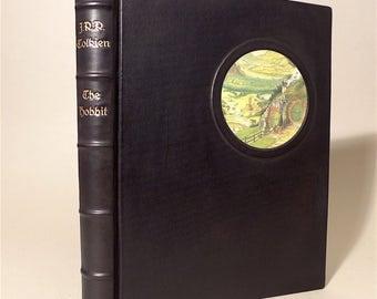 The Hobbit J.R.R. Tolkien Alan Lee 1991 *RARE* 1st Edition Leather-Bound