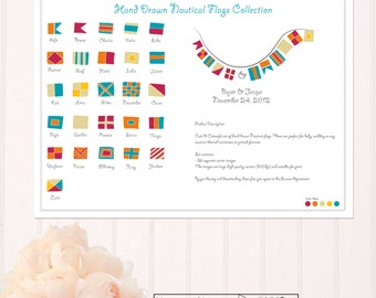 Nautical Flag Vector Clip Art- CA007