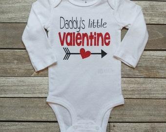 Valentine's Day Baby Onesie Daddy's Little Valentine Onesie