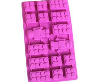 Toy Pieces and Silicone Mold - Quality Molds from Bakell - Chocolate Mold, Ice Tray, Candy Making - DJ103 - Movie, Kids, Lego