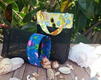Shell Collecting Bag, Shell Bag, Shell Collecting Tote, Sand Free Tote Bag, Sea Shell Bag, Seashell Bag, Mini Beach Bag, Vinyl Mesh Bag