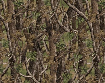 "15"" REMNANT - Norwegian Woods Camo - Cotton Quilt Fabric - by Whistler Studios for Windham Fabrics (W175)"