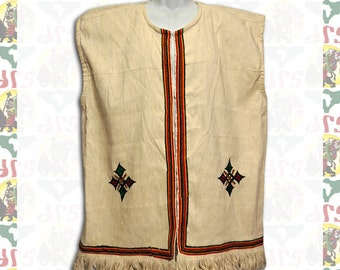 Ethiopian Traditional hand embroidered Vest XL