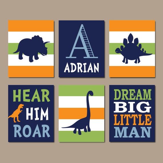 Dinosaur Wall Art Dinosaur Decor Baby Boy Nursery Wall Art