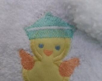 Burp cloth- Applique Duck
