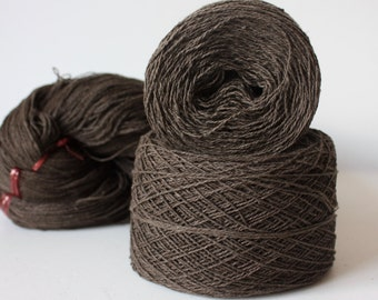 100% Hemp Yarn - Natural Dye - Col: 010 Ebony - Chocolate Brown