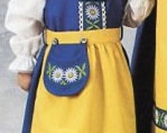 Swedish National Costume Dress for Girls