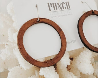 joanna Gaines jewelry -leather- Joanna Gaines earrings - leather earrings