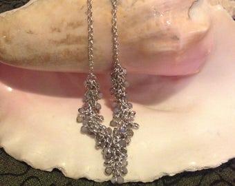 Black Friday Sale: Vintage Rainbow Cluster Moonstone Necklace - Handmade Rainbow Moonstone Necklace - Rainbow Moonstone Necklace