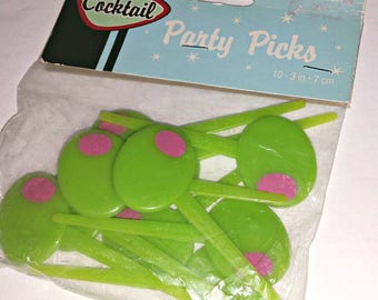 Vintage OLIVE Martini Cocktail Bar PICKS Barware Party Food Picks Entertaining Dining Tiki Bar Mad Men Christmas Party Hostess Host Gift