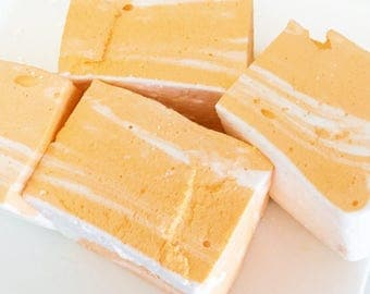 Marshmallows - Orange Creamsicle Swirl Gourmet Marshmallows - Orange -  Gourmet Edible Sweets