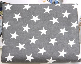 """Cotton Fabric Grey Middle Star by the yards 44"""" Cozy Grey Middle Star laceking2013"""