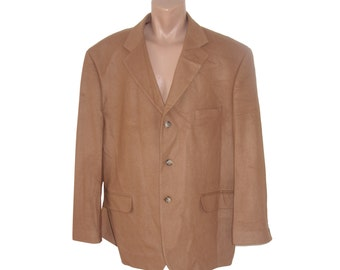 Vintage Top 3 Suisses ® men brown blazer jacket