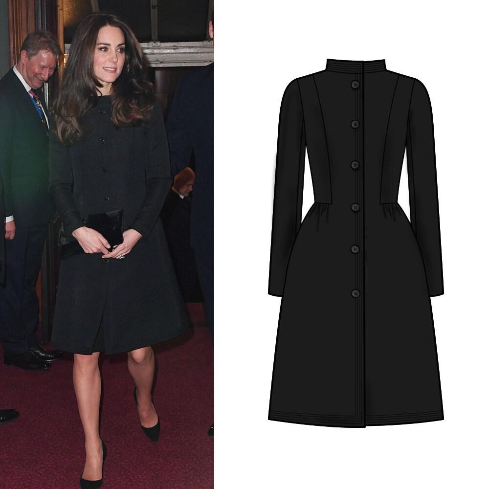 Kate Middleton/ Evening Coat Dress/ Festival of Remembrance/