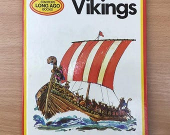 VIKINGS Long Ago Starters Vintage 1974 Children's Book VGC Macdonald Educational