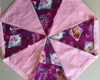 Frozen Bunting | Nursery Decor | Banner | Flags | Girls Bedroom Decor | Home and Living | Princess