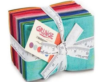 Moda Grunge Fat Eight Fabric Bundle | Moda fabric | rainbow