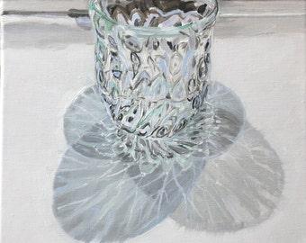 Handblown glass and shadow.