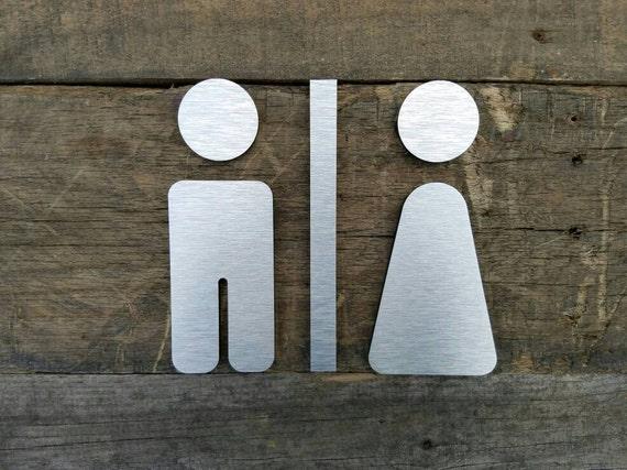 Restroom Sign Modern Men Women Directory Wayfinding Signage
