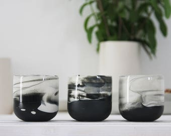Ceramic espresso cup set. Black and white marble.unique coffee mug,Modern Espresso Cups, christmas gift guide,unique gift,Housewarming gift.