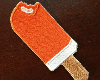 Orange Creamsicle 3.5in. Sew-on patch