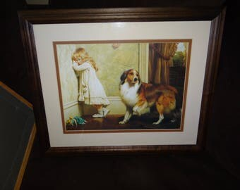 Beautifully Framed and Matted Vintage Art Work by Charles Burton Barber