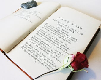 Romantic Ballads 1901 Poetry CollectionLove Romance Antique Book Gift Literature Classic books