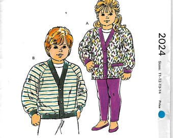 Kwik Sew 2024   Todler's Cardigans and Tights   SizeT1,T2,T3,T4   Uncut