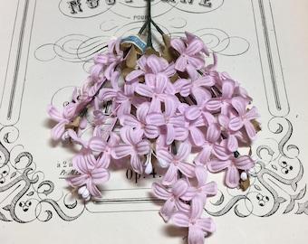 Sweet pink vintage millinery flower spray