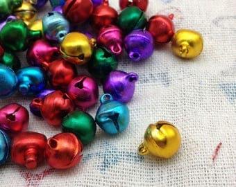 300pcs 10mm asorted color small bells,pet bells,dog bells,Christmas bells,pendant bells,DIY bell,jingle bell