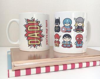 Mug | Superheroes | For Dad | Father's Day Mug
