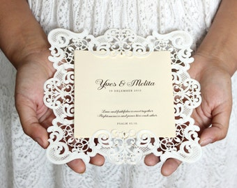 Vintage Wedding Invitation, Vintage Invitations, Lace Wedding Invitations, Luxury Wedding Invitation