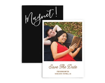 Magnet Save the Date, Photo Save the Date Magnet, Photo Magnets Fridge, Instant Photo Wedding Invitation