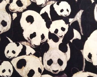 One Half Yard of Fabric Material - Packed Pandas
