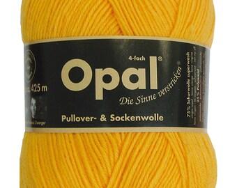 Opal -  Uni Sun Yellow 5182 - 4 ply Sock Yarn