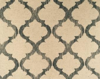 REMNANT FABRIC: Screen Print Trellis Pattern