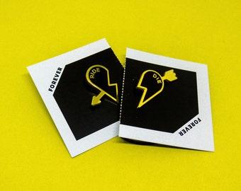 Ride or Die Enamel Heart Pin Set