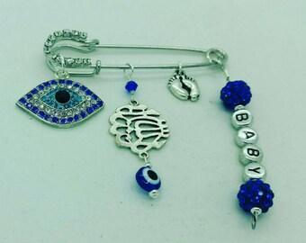 Mashallah pin, Masha'Allah pin, Allah stroller pin, muslim pin, turkish evil eye pin, evil eye pin, stroller pin, islamic baby gift