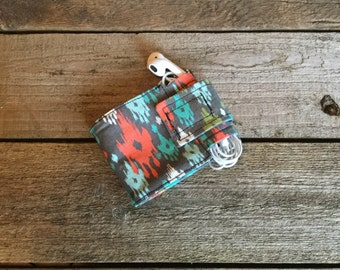 Wallet and Earbud Holder, watercolor dream catcher