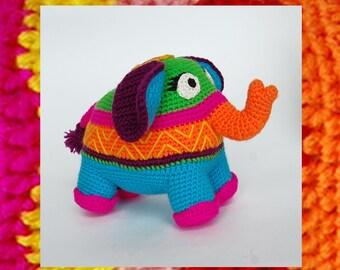 Amigurumi Pattern. Crochet Happy Elephant Elly. Positive Toy
