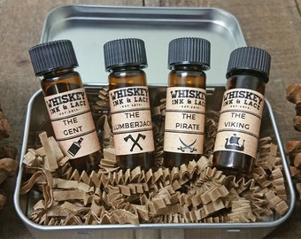 Intro to Beard Oil Sample Kit, 4 Top Selling Beard Oils, Beard Oil Sample, Beard Grooming Kit Gift For Men Valentines Day Gift for Boyfriend