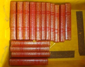 Set of 15 Russian mixed authors Vinyl covered books by Heron Books.
