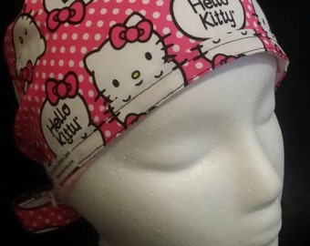 Hello Kitty Tie Back Surgical Scrub Hat