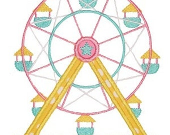 Personalized Carnival Ferris Wheel Applique Shirt or Onesie Girl or Boy