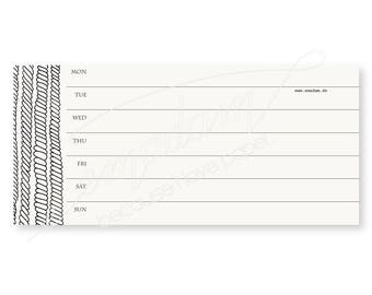Notepads, memo pad, stationery, pads, bloc, to do list, list, writing pad, office supplies - Notepad-Set - Weekly layout with sailor pattern