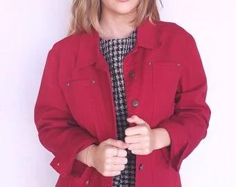 Vintage red denim jacket