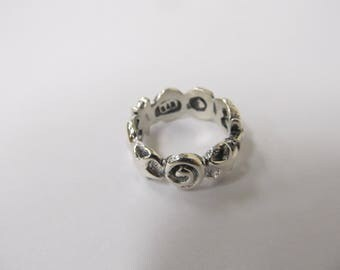 Sterling Silver Moon Star Sun and Galaxy Ring sz 7